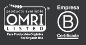 OMRI y Bcorp logos