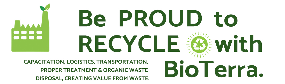 Be proud to recycle with BioTerra -title bar