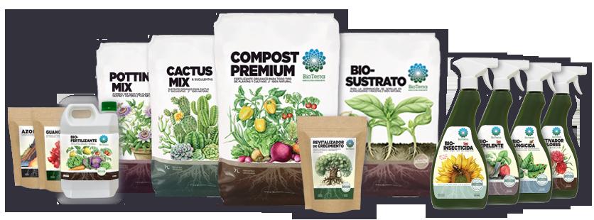 foto de la linea de productos de BioTerra